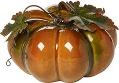 Bountiful Blessings by Precious Moments 171556 Small Porcelain Pumpkin Color: Multi - JCPenney Small Pumpkins, Glass Pumpkins, Pillar Candle Holders, Pillar Candles, Precious Moments, Large Pumpkin, Fall Decor, Holiday Decor, Thanksgiving Decorations