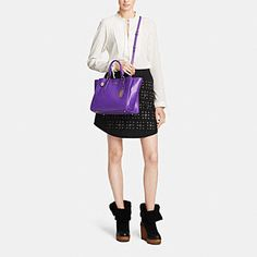 CROSBY CARRYALL IN LEATHER - Alternate View 1
