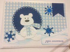 carte anniversaire die panda/ours