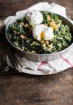 Kale, walnut, quinoa & clementine salad - Three times a day - - Salade Kale Quinoa, Kale Salad, Vegetable Recipes, Vegetarian Recipes, Healthy Recipes, I Want Food, Winter Vegetables, Vegan Dishes, Salad Recipes