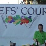 Cooking demonstrations with local chefs at the Chefs' Market Napa CA  #napavalley #cookingdemonstrations