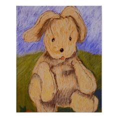 Bunny by Lou Wall Print  Click on photo to purchase. Check out all current coupon offers and save! http://www.zazzle.com/coupons?rf=238785193994622463&tc=pin