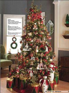 Cristhmas Tree Decorations Ideas : Oh Christmas Tree, oh Christmas Tree Beautiful Christmas Trees, Christmas Tree Themes, Christmas Villages, Noel Christmas, Holiday Tree, Holiday Decor, White Christmas, Christmas Mantles, Christmas Island