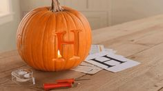 Make your mark on pumpkin carving this Halloween season with a monogram pumpkin display! Learn how to properly carve your initials into any pumpkin.