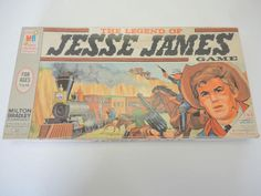 Vintage 1966 Legend of Jesse James Board Game Complete Unpunched Unused! Classic Board Games, Vintage Board Games, Milton Bradley, Traditional Games, Jesse James, Boards, Baseball Cards, Toys, Children
