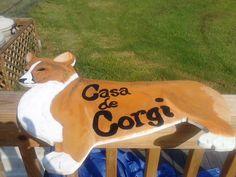 Corgi yard sign I did for my front yard