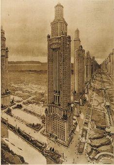 AUGUSTE PERRET — 'TOWER HOUSE AVENUE' - PARIS — 1922
