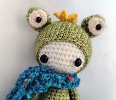 Frank der Frosch von PIDesignStore auf Etsy Crochet Hats, Beanie, Etsy, Design, Handarbeit, Cotton, Knitting Hats, Beanies
