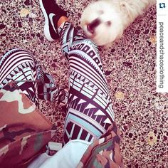 #Repost @peaceandchaosclothing with @repostapp.  Pastel Lux Leggings  Doggie.. @_elennnnna_  #leggings #printedleggings #doggie #cute #pet #company #pastel #ss16 #collection #spring #summer #look #instadaily #instamood #instapic #legs #pins #nike #thanksfortagging #pointofu_store by pointofu_store