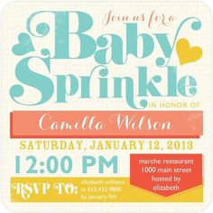 Heartfelt Poster - #Baby Shower Invitations - Ann Kelle - Reef Blue #TopPin