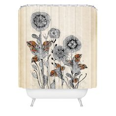 Found it at Wayfair - Terra Floral 3 Extra Long Shower Curtain