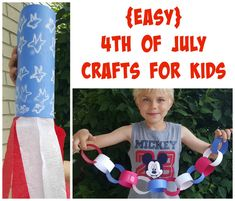 Fourth of July crafts for kids - easy patriotic crafts