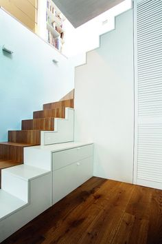 Stairs with storage space under