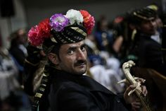 GROOM TO BE: A groom wearing traditional attire attended a mass wedding ceremony in San'a, Yemen, Thursday. (Hani Mohammed/Associated Press)...