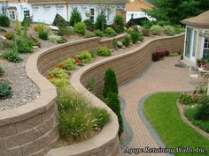 retaining wall ideas   agape retaining walls inc built these retaining walls in kirkwood