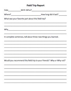 field trip form | school stuff | Pinterest | Field trips, Fields ...