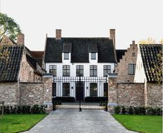 The Regional House Classical Architecture, Architecture Design, Building Design, Building A House, Urban Island, Dutch House, Barn Renovation, Belgian Style, Exterior Design