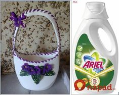 How to Recycle the Plastic Bottle Creative Bottle . Reuse Plastic Bottles, Plastic Bottle Flowers, Plastic Bottle Crafts, Plastic Art, Diy Bottle, Recycled Bottles, Bleach Bottle, Detergent Bottles, Diy Home Crafts
