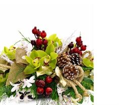 Glorious Winter Centerpiece in Baltimore MD, The Flower Cart, Inc