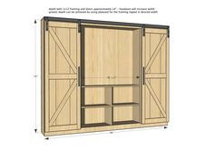 Ana White | Build a Sliding Barn Door Media Wall Suite | Free and Easy DIY Project and Furniture Plans