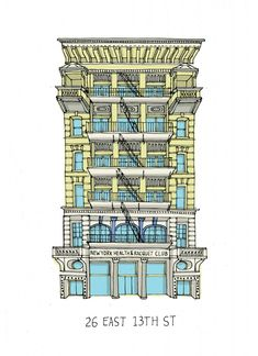 Beautiful drawings of all the buildings of New York
