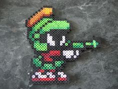 Perler beads Marvin the Martian Looney Tunes by rushtalion on deviantart