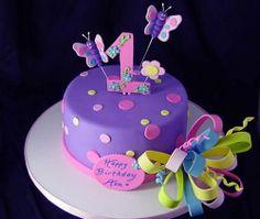 butterfly birthday cake