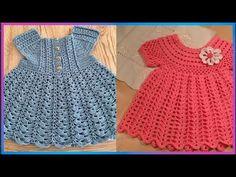 Crochet Girls Dress Pattern, Crochet Bikini Pattern, Crochet Patterns, Vestidos Bebe Crochet, Baby L, Crochet Baby Clothes, Baby Dress, Barbie, Girls Dresses