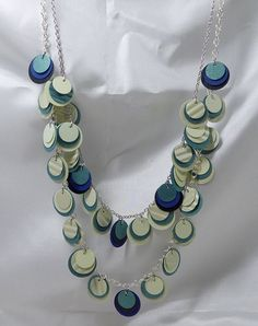 Paper Necklace from beccasblend by beccasblend on Etsy