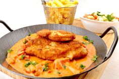 Breaded Chicken Schnitzel with Pepper Sauce - Too Lazy to Cook? - Chicken cutlet with paprika sauce - Chicken Schnitzel, Chicken Cutlets, Breaded Chicken, Paprika Sauce, Homemade Carrot Cake, Healthy Carrot Cakes, Barbecue Sauce Recipes, Food Tags, Bratwurst