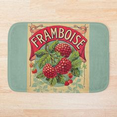 Soft, printed microfiber bath mat with foam cushion and a non-slip base. Available in multiple sizes. Machine washable. Foam Cushions, Farmers Market, French Vintage, Bath Mat, Base, Printed, Products, Raspberry, Prints