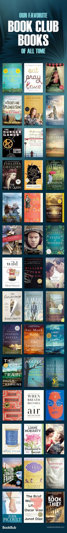 The most popular book club books for women, including funny books, young adult, psychological thrillers, mystery books, and more. Great suggestions for 2017 and 2018. #bookclubbooks #bookclubideas #bookclub