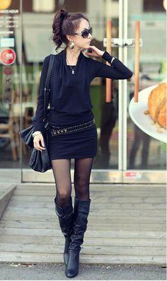 Tunika 5804 czarny | Odzież damska \ sukienki Odzież damska \ sukienki | Tytuł sklepu zmienisz w dziale MODERACJA \ SEO