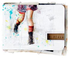 Not only is this a gorgeous cover to an art journal, you can learn how to make your own when you visit CandiMandi: http://candimandi.typepad.com/heres_lookin_at_me_kid/2009/08/a-personal-mini-album.html art inspir, person art, mini art, diy art, art journals, mini albums, minialbum, journal inspir, art journal covers