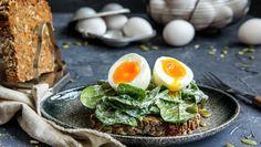 Kokt egg på spinatkrem
