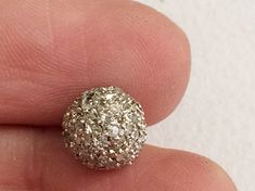 Pave Diamond Balls Diamond Balls 925 Sterling by gemsforjewels