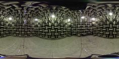 360 image of an anechoic chamber