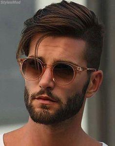 New haircut modern men facial hair ideas Mens Hairstyles With Beard, Cool Hairstyles For Men, Hairstyles Haircuts, Haircuts For Men, Sweet Hairstyles, Mens Hairstyles Business, Mens Straight Hairstyles, Mens Summer Hairstyles, Classic Mens Hairstyles