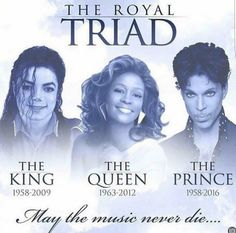 P Michael Jackson, Whitney Houston, & Prince. Music will not be the same. Girl Bands, Boy Band, Whitney Houston, Music Icon, Soul Music, Kings & Queens, The Jackson Five, Black Art Pictures, Michael Jackson Pics