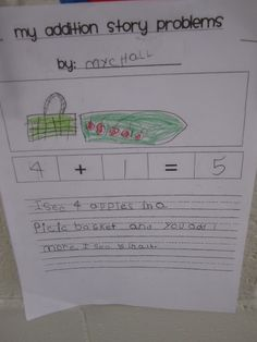 addition stories... my 2nd graders would LOVE this!