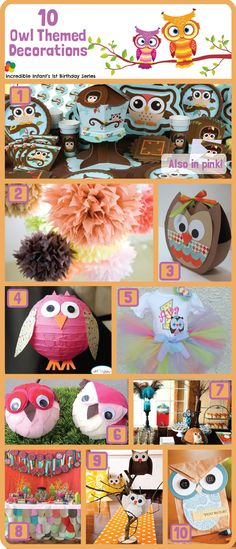 10 Owl Party Decorating Ideas -http://www.incredibleinfant.com