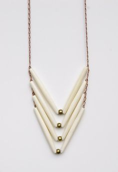 Chevron Bone Necklace from Little Ocean $38