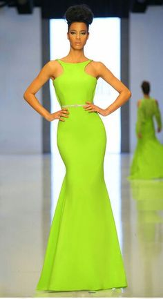 Brighten up the room in this brilliant evening dress from MNM Couture 2143 by Fouad Sarkis. The sporty bodice has unique straps and is designed to showcase a Evening Dresses, Prom Dresses, Formal Dresses, Runway Fashion, Fashion Show, Couture Fashion, Robes Glamour, Costume, Mode Style