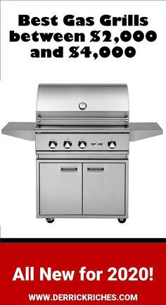 Best Gas Grills between $2000 and $4000 for 2020 - In this price range, we find some of the best gas grills on the market. While there are better grills, those fall into the luxury category. If you have the money, look at these great gas grills via @derrickriches