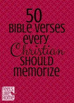 50 Bible Verses Every Christian Should Memorize Bible Verse Memorization, Prayer Scriptures, Bible Prayers, Bible Verses Quotes, Faith Quotes, Mom Prayers, Healing Scriptures, Biblical Verses, Faith Prayer