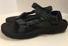 649bea7b7336 TEVA S N 4156 Men s 9 Sport Sandals  F27011C Blue Velcro Straps  Teva   SportSandals