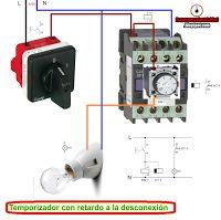 Esquemas eléctricos: TEMPORIZADOR CON RETARDO A LA DESCONEXIÓN