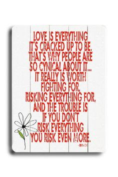 Artehouse Love Is Everything, Large Wood Sign - Beyond the Rack