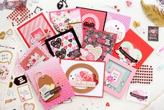 💖💑 Not sure where to start looking for fun, Valentine's Day inspiration? Look no further than these beautiful, unique handmade Valentine Cards featuring the Forever My Always Collection from Pebbles! This collection has the colors, sparkle, and glimmer to help you create your most creative Valentine craft projects yet! #valentinecrafts #valentinecardshandmade #valentinecardsideas #valentinecardsdiy #handmadevalentinecards #handmadecards #valentinesideas