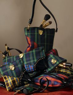 Tartan cosmetics bag - how can I get these? They're amazing!